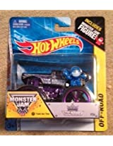 Monster Jam KING KRUNCH #54 purple track ace tires includes monster jam figure