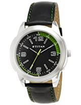 Titan Octane Analog Black Dial Men's Watch - NE1585SL04