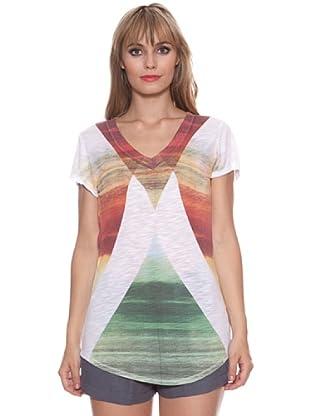 Santa Barbara Camiseta Geométrica (Naranja)