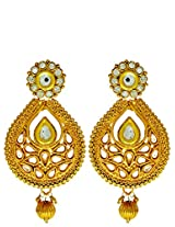 Kundan Golden Earring