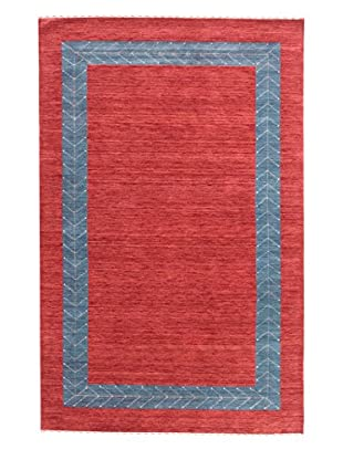eCarpet Gallery One-of-a-Kind Hand-Knotted Kashkuli Gabbeh Rug, Red, 5' x 8'