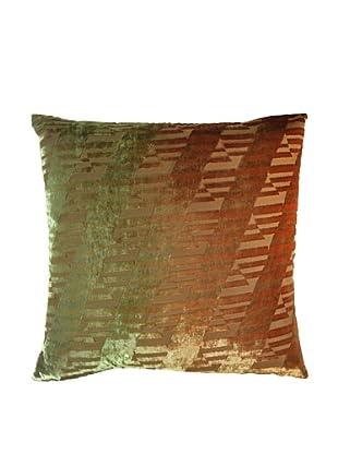 Kevin O'Brien Studio Hand-Painted Devore Velvet Ogee Pillow
