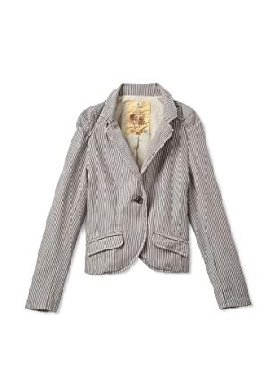 Rosé Pistol Girl's Westley Striped Blazer (Sable)