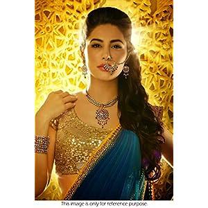 Nargis Fakhri Blue Georgette Bollywood Replica Saree