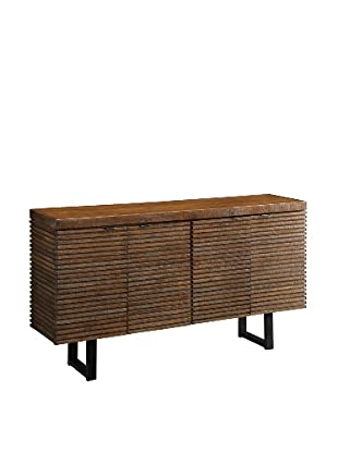 Coast to Coast Slatted Credenza, Brown