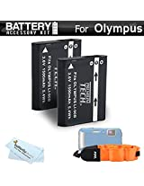 2 Pack Battery Kit Bundle For Olympus TOUGH TG-1 iHS TG-1iHS TG 1 iHS TG-2 iHS TG-2iHS Waterproof Digital Camera Includes 2 Extended Replacement (1500Mah) LI-90B Batteries + Floating Strap + MicroFiber Cleaning Cloth