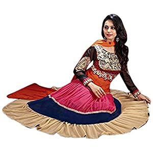 Rukulpreet Singh Faux Georgette Multicolour Anarkali Suit