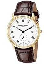 Frederique Constant Men's FC-245M4S5 Ultra Slim Date Analog Display Quartz Brown Watch