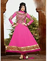 New Fancy Pink Embroidered Anarkali Suit uf11003