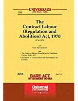 Contract Labour (Regulation and Abolition) Act, 1970 Along with Rules 1971