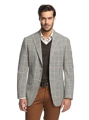 Samuelsohn Men's Check Plaid Sport Coat (Tan Check)