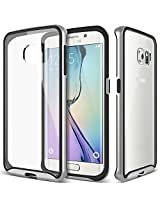 Galaxy S6 Edge case, Caseology [Dual Bumper Clear back] [Silver] DIY Customization Fusion Hybrid Cover [Shock Absorbent] Samsung Galaxy S6 Edge case