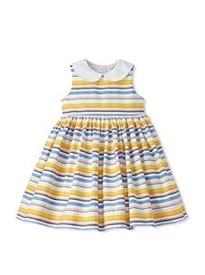 Baby CZ Girl's Eliza Sleeveless Dress (Ocean/Yellow Stripe)