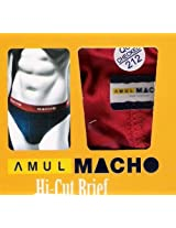 AMUL MACHO MENS HIGH CUT BRIEF [Apparel]
