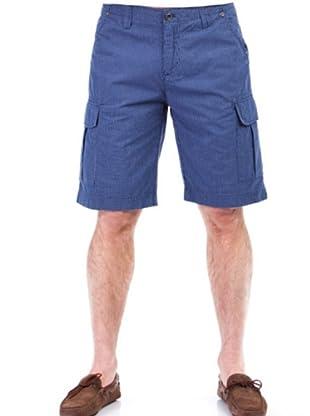 Cortefiel Bermuda Rayas (Azul)