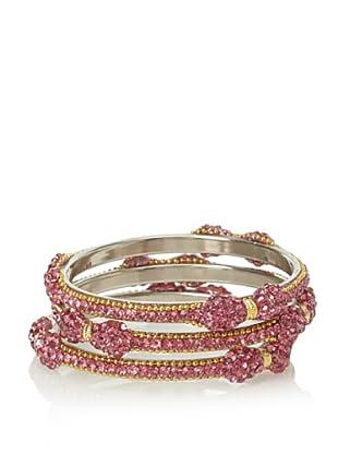 Saachi Pink Bow Bracelet Stack