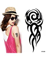 GGSELL Waterproof and sweat of the creative black totem tattoo stickers for men and women