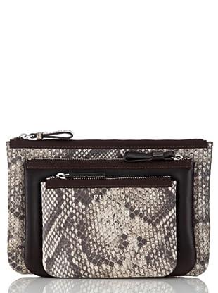 Furla Taschen-Set Litchi (Beige/Braun)