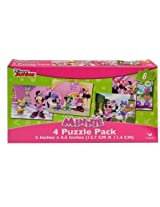 Disney Minnie Mouse 4 Puzzle Pack 12 Piece Jigsaw Puzzle (Set Of 4 Different Puzzles)