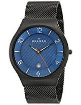 Skagen Grenen Analog Blue Dial Men's Watch - SKW6147