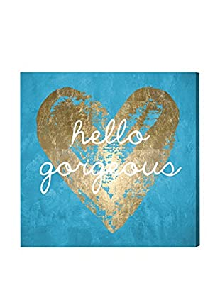 Oliver Gal Gorgeous Salute Turquoise Canvas Art