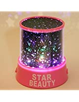 NIUTOP® Fashion Romantic Colourful Cosmos LED Night Light Beauty Star Light LED Lamp Projector Bedside Lights with USB Cable (Pink)