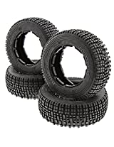 Hpi 1/5 Baja 5 Sc 5 T Gas * Front & Rear Rodeoo Tires * Blue & White Compound