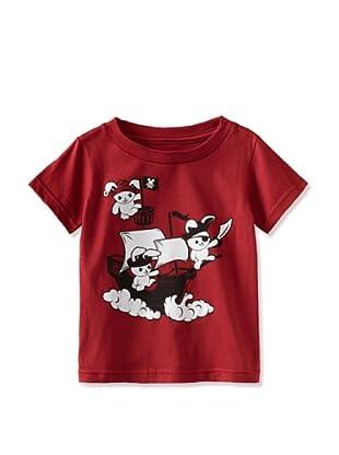 Ex-Boyfriend Boy's Pirate Bunnies T-Shirt (Indolence Red)
