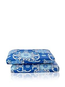 Waverly Set of 2 Sun-n-Shade Garden Crest Squared Seat Cushions (Marine)