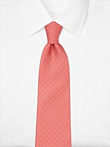 Nina Ricci Men's Floral Dot Tie, Coral