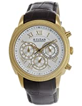 Titan Classique Chronograph Silver Dial Men's Watch - NE1489YL03