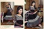 Black Color Embroidery Designe Work Anarkali Salwar Suit With Red Color Santoon Bottom & Black Color Najneen Dupatta Beautiful Georgette Top