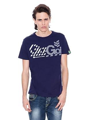 Gio Goi Camiseta Triflock (azul marino)