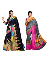 Red Apple combo Bhaglapuri sarees
