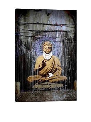 Banksy Injured Buddha Giclée On Canvas