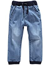 Snuggles Denim Pant With Rib Waistband