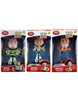 7 Toy Story Talking Bobble Head 3-Pack (Woody Buzz & Jessie)