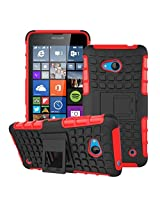 HIGAR Dual Layer Armor Protector Pouch Hard Case Cover For Microsoft Lumia 640 With Higar Retail Box - Red