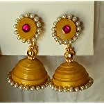 Gold Paper Traditional Jhumki Earring