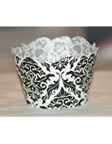 All About Details Royal Damask Reversible Cupcake Wrappers , Set of 12