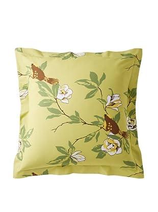 Elsie Green Happy Bird Euro Sham, Green
