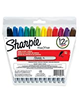 Sharpie Fine Point Permanent Markers, 12 Colored Markers(30072) by Sharpie