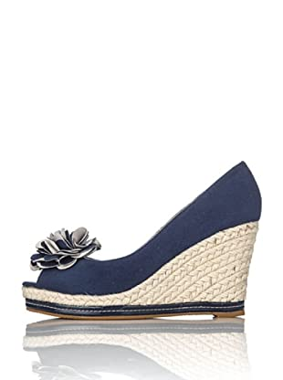Miss Roberta Open-toe Zeppa Corda (Navy)