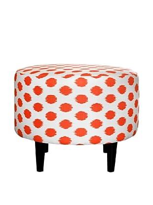 Sole Designs Sophia Jojo Round Ottoman, Tangelo