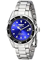 Invicta Watches, Men's Pro Diver Blue Dial Stainless Steel, Model 10664