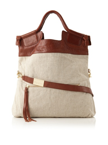 Foley + Corinna Women's Mid City Large Tote (Linen/Brown)