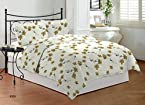 Bombay Dyeing Florentine Cotton Double Bedsheet wirth 2 Pillow Covers - Brown