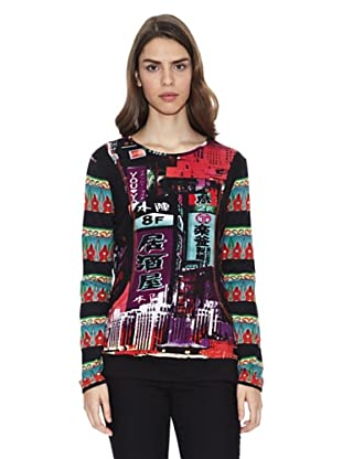 Peace & Love Camiseta Lhasa (Multicolor)