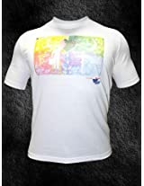 Lotto Printed White T Shirt