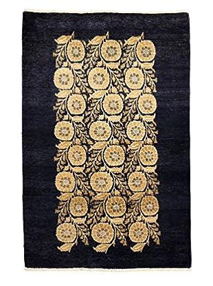 Darya Rugs Modern Oriental Rug, Blue, 4' x 6' 1